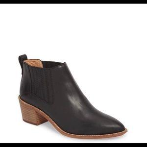 Madewell Bonham black leather booties
